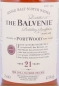Preview: Balvenie 21 Years Port Wood Non-Chill Filtered Limited Release Highland Single Malt Scotch Whisky 47.6%