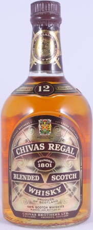 Chivas Regal 12 Years Blended Scotch Whisky 43,0% Vol. 75cl alte Abfüllung