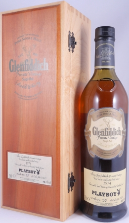 Glenfiddich 1974 31 Years Cask 10245 Playboy Selection Speyside Single Malt Scotch Whisky Cask Strength 48,1%
