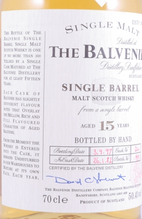 Balvenie 1982 15 Years Cask 246 Single Barrel Highland Single Malt Scotch Whisky 50,4%