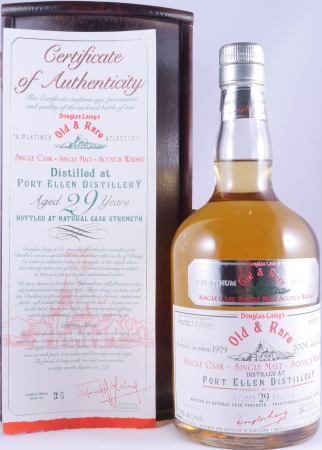 Port Ellen 1979 29 Years Old and Rare Platinum Edition Single Cask Islay Single Malt Scotch Whisky Cask Strength 53.8%