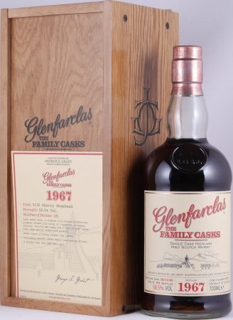 Glenfarclas 1967 39 Years The Family Casks Sherry Hogshead Cask 5118 Highland Single Malt Scotch Whisky 58.5%