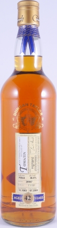 Tomatin 1965 42 Years Cask 20947 Highland Single Malt Scotch Whisky Duncan Taylor Cask Strength Rare Auld Edition 46,6%