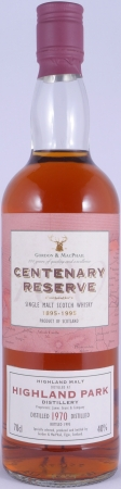 Highland Park 1970 25 Years Orkney Islands Single Malt Scotch Whisky Gordon and MacPhail Centenary Reserve 40,0%