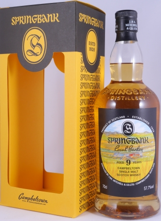 Springbank 2009 9 Years Local Barley Release 2018 Campbeltown Single Malt Scotch Whisky Cask Strength 57,7%
