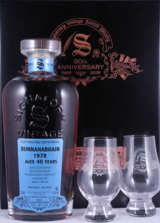 Bunnahabhain 1978 40 Years Refill Sherry Butt Cask No. 2587 Signatory 30th Anniversary Single Malt Scotch Whisky 47,8%