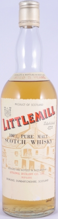 Littlemill 5 Years 100% Pure Malt Lowland Scotch Whisky Clear Glass Bottle 43,0%