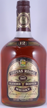 Chivas Regal 12 Years Blended Scotch Whisky 43,0% Vol. 3,78 Liter alte Abfüllung
