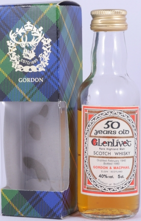 Glenlivet 1940 50 Years Miniatur Highland Single Malt Scotch Whisky Gordon and MacPhail 40,0%
