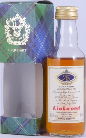 Linkwood 1959 und 1960 Special Vatting Miniature Highland Single Malt Scotch Whisky Gordon and MacPhail 40.0%