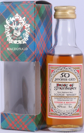 Pride of Strathspey 1937 50 Years Miniature Rare Highland Single Malt Scotch Whisky Gordon and MacPhail 40.0%