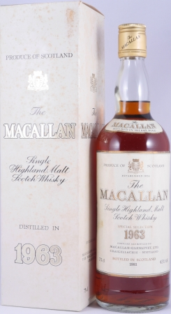 Macallan 1963 18 Years Sherry Wood Special Selection Highland Single Malt Scotch Whisky 43.0%