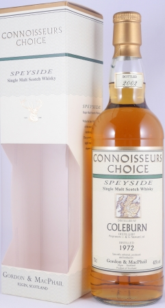 Coleburn 1972 30 Years Speyside Single Malt Scotch Whisky Connoisseurs Choice Gordon and MacPhail 40.0%