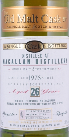 Macallan 1976 26 Years Highland Single Malt Scotch Whisky Douglas Laing OMC 50.0%