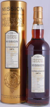 Glenglassaugh 1973 33 Years Dark Sherry Cask 5166 Murray McDavid Mission Gold Highland Single Malt Scotch Whisky 55.1%