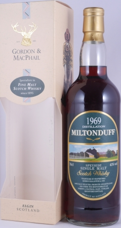 Miltonduff 1969 39 Years Sherry Butt Rare Vintage Speyside Single Malt Scotch Whisky Gordon and MacPhail 43.0%