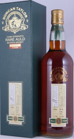 Macallan 1987 18 Years Sherry Cask 9794 Duncan Taylor Cask Strength Rare Auld Edition Single Malt Scotch Whisky 58.4%