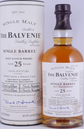 Balvenie 1974 25 Years Cask 15190 Single Barrel Highland Single Malt Scotch Whisky 46.9%