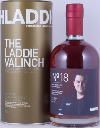 Bruichladdich 1991 24 Years The Laddie Crew Valinch 18 David Hope JNR Cask No. 034 Islay Scotch Whisky 46.9%
