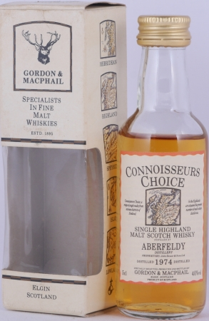 Aberfeldy 1974 Gordon and MacPhail Connoisseurs Choice Miniature Highland Single Malt Scotch Whisky 40.0%
