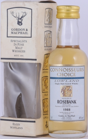 Rosebank 1988 8 Years Gordon and MacPhail Connoisseurs Choice Miniature Lowland Single Malt Scotch Whisky 40.0%