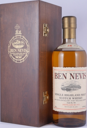 Ben Nevis 1975 26 Years Bourbon Cask No. 945 Highland Single Malt Scotch Whisky Cask Strength 53.9%
