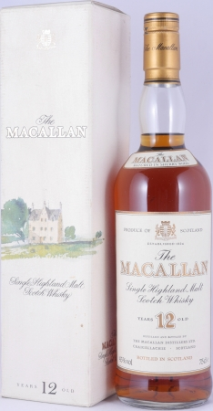 Macallan 12 Years Sherry Wood Highland Single Malt Scotch Whisky 43,0% old 75cl Bottling for JUMAC GmbH Bonn