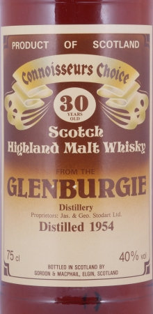 Glenburgie 1954 30 Years Gordon and MacPhail Connoisseurs Choice Brown Label Highland Single Malt Scotch Whisky 40.0%