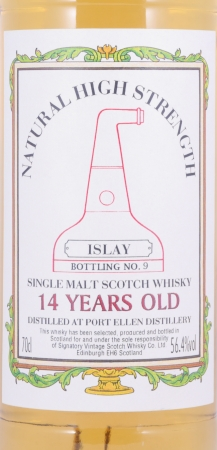 Port Ellen 14 Years Old Signatory Vintage Natural High Strength Islay Bottling No. 9 Single Malt Scotch Whisky 56.4%