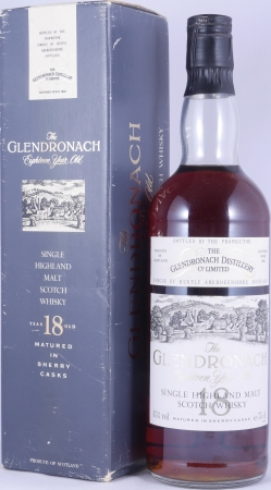 Glendronach 1972 18 Year Old Sherry Casks Highland Single Malt Scotch Whisky 43.0%