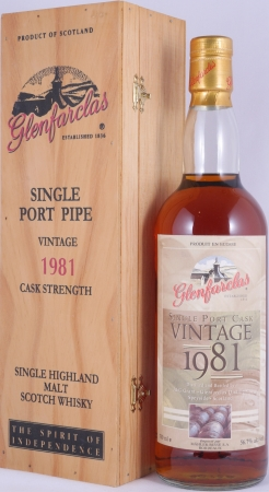 Glenfarclas 1981 18 Years Single Port Cask Highland Single Malt Scotch Whisky Cask Strength 56.7%