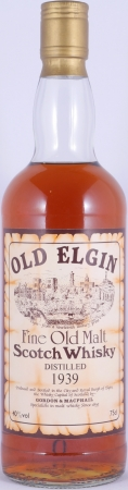 Old Elgin 1939 Gordon and MacPhail Fine Old Malt Scotch Whisky 40.0%