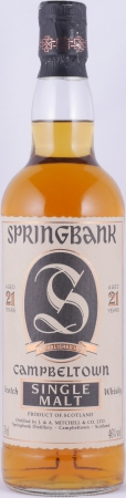 Springbank 21 Years Jagged Label Edge Campbeltown Single Malt Scotch Whisky 46.0%