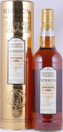 Bowmore 1989 21 Years Sherry Cask Murray McDavid Mission Gold Islay Single Malt Scotch Whisky 56,1%