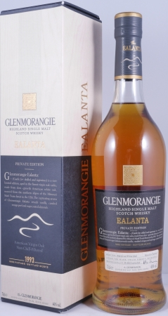 Glenmorangie Ealanta Private Edition American Virgin Oak 19 Years Highland Single Malt Scotch Whisky 46,0%