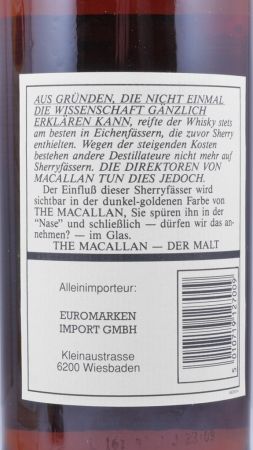 Macallan 12 Years Sherry Wood Highland Single Malt Scotch Whisky 43,0%