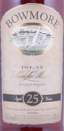 Bowmore 25 Years Sherry Cask Islay Single Malt Scotch Whisky Seagull Label 43,0%