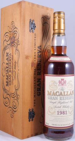 Macallan 1981 Gran Reserva 18 Years Sherry Oak Highland Single Malt Scotch Whisky 40,0%