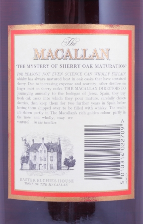 Macallan 10 Years First Edition Cask Strength Sherry Oak Highland Single Malt Scotch Whisky 58.8%
