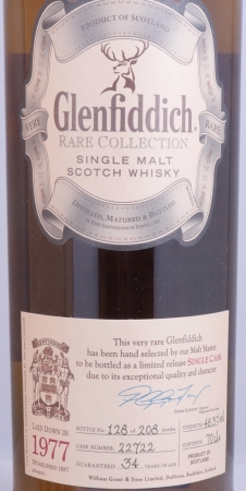 Glenfiddich 1977 34 Years Rare Collection Cask 22722 Speyside Single Malt Scotch Whisky 48.3%