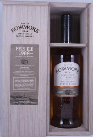 Bowmore 1988 24 Years Feis Ile 2013 Bourbon Cask Islay Single Malt Scotch Whisky Cask Strength 51.0%