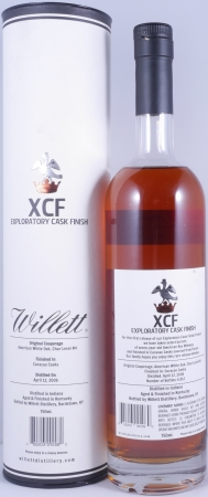 Willett XCF Exploratory Cask Finish Small Batch Rye Whiskey finished in Curacao Casks from France 51,7%