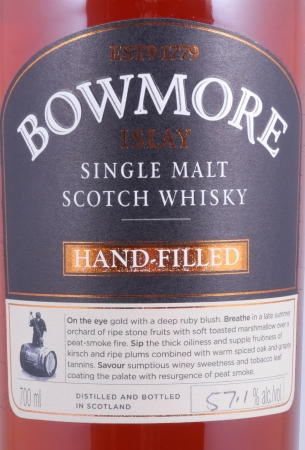 Bowmore 1998 15 Years 5th Hand-Filled Edition 1st Fill Bordeaux Wine Barrique Cask 32162 Single Malt Scotch Whisky 57,1%