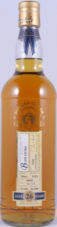 Bowmore 1982 26 Years Cask 85068 Islay Single Malt Scotch Whisky Duncan Taylor Cask Strength Rare Auld Edition 53.8%