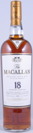Macallan 1995 18 Years Sherry Oak Highland Single Malt Scotch Whisky 43.0%