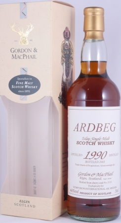 Ardbeg 1990 13 Years Islay Single Malt Scotch Whisky Sherry Cask No. 3133 Symposion AB Sweden Cask Strength 46.0%