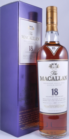 Macallan 1997 18 Years Sherry Oak Highland Single Malt Scotch Whisky 43,0%