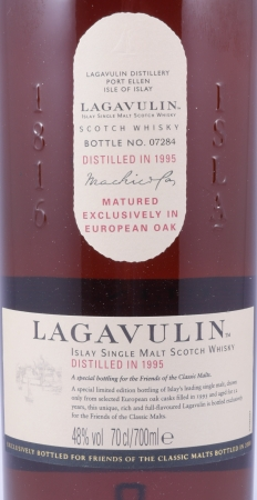 Lagavulin 1995 12 Years FOCM Special Release 2008 Limited Edition Islay Single Malt Scotch Whisky 48.0%