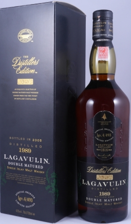 Lagavulin 1989 16 Years Distillers Edition 2005 Special Release lgv.4/493 Islay Single Malt Scotch Whisky 43.0%