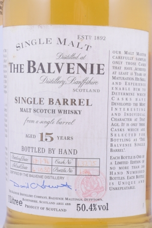 Balvenie 1980 15 Years Cask 13275 Single Barrel Highland Single Malt Scotch Whisky 50.4%